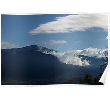 Misty Morning on Mount Ben Lomond Poster