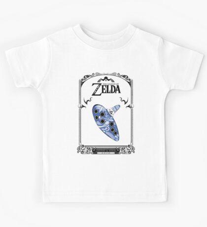Zelda legend - Ocarina doodle Kids Tee