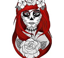 Santa Muerte Red hair by artetbe