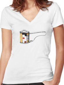 Film o licious Women's Fitted V-Neck T-Shirt