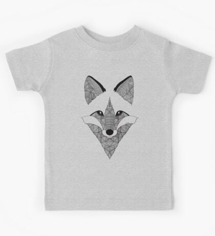 Fox black and white Kids Tee