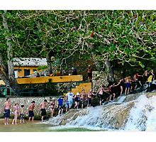 Holding Hands -Dunns River Falls.Jamaica 2010 Photographic Print