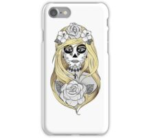 Santa Muerte Blond hair iPhone Case/Skin