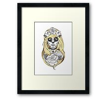 Santa Muerte Blond hair Framed Print
