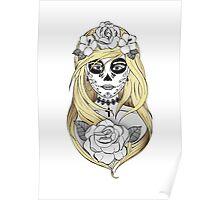 Santa Muerte Blond hair Poster