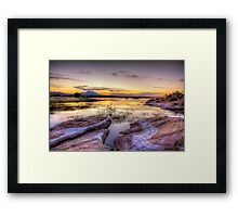 Willow Lake Dusk Framed Print