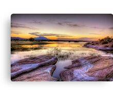 Willow Lake Dusk Canvas Print