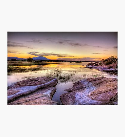 Willow Lake Dusk Photographic Print