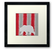 Bear with graphic background Framed Print