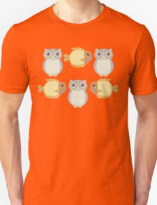 Owls Three and Fish Three Unisex T-Shirt