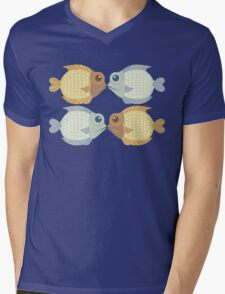 2 FISH + 2 FISH Mens V-Neck T-Shirt