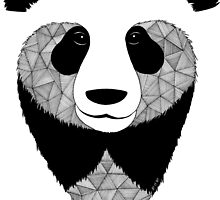 Panda black and white by artetbe