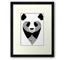 Panda black and white Framed Print