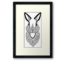 Rabbit black and white Framed Print