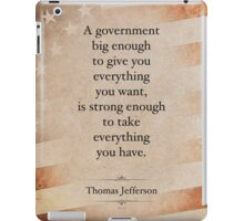 Thomas Jefferson Quote iPad Case/Skin