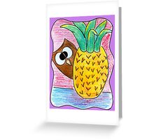 The Pineapple and the Owl Greeting Card