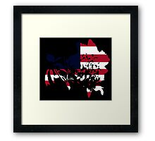 Flag Peony Black Background Framed Print