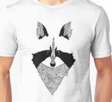 Raccoon black and white Unisex T-Shirt