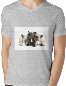 Frenchie Pals Mens V-Neck T-Shirt