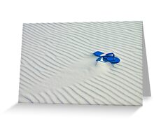Lost in sands Greeting Card