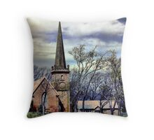 Historic church Campbell Town Throw Pillow