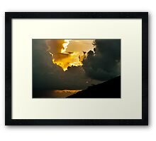 I told you I can touch the cloud! Framed Print