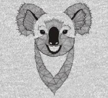 Koala black and white Baby Tee