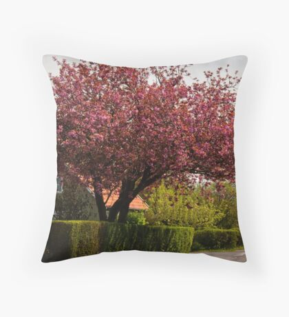 The Blooming Cherry Tree Throw Pillow