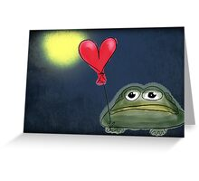 Mister Toad looking for love with background Greeting Card