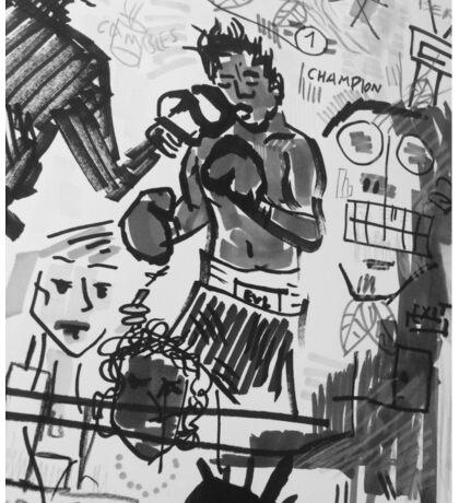 Basquiat V Warhol B&W Sticker