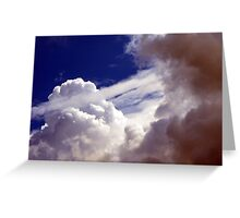 Those Crazy Clouds Greeting Card