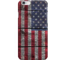 """Old Glory"" on wood iPhone Case/Skin"