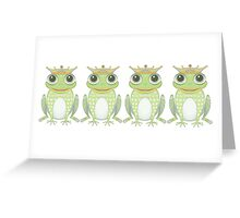 Quadruplet Princely Frogs Greeting Card