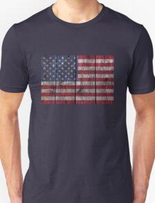 """""""Old Glory"""" on wood Unisex T-Shirt"""