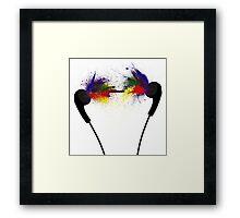 Coloured Music Framed Print