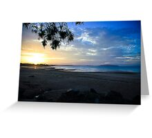 Shoal Point Coloured Sunset Greeting Card