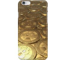 Gold coins bitcoin iPhone Case/Skin