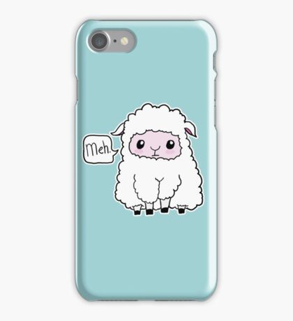 Meh. Sheep of Indifference iPhone Case/Skin