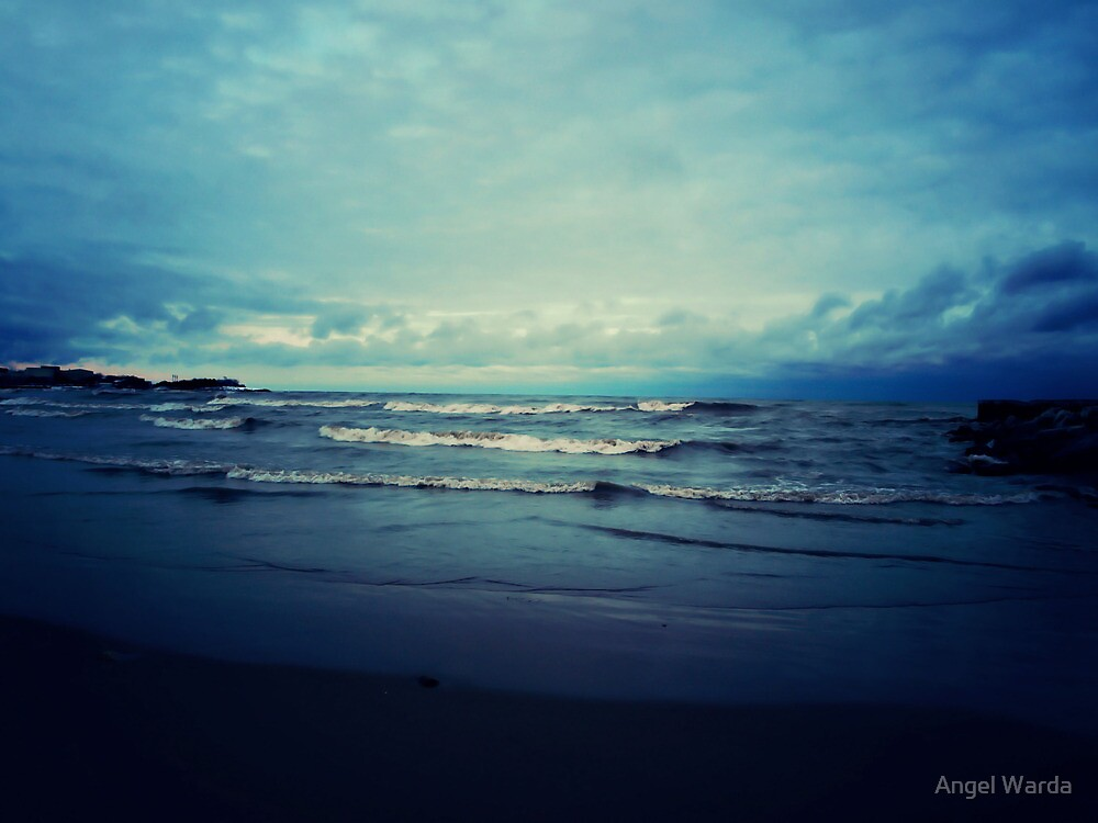 a walk on the beach by Angel Warda