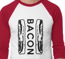 Bacon Strips Men's Baseball ¾ T-Shirt
