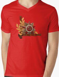9 May - Victory Day! 9 мая - День Победы! Mens V-Neck T-Shirt