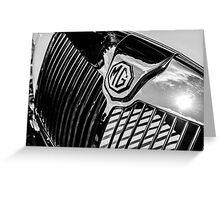 MG Radiator Grill Greeting Card