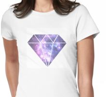 Galaxy printed diamond design Womens Fitted T-Shirt