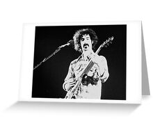 Frank Zappa Jams Greeting Card