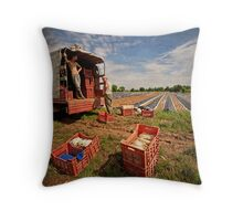 The Spargel Pickers Throw Pillow