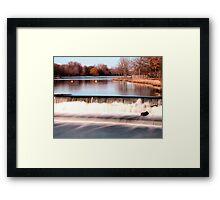 Dam on Fox River in Waukesha, WI  Framed Print