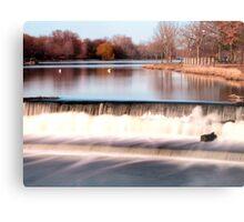Dam on Fox River in Waukesha, WI  Metal Print
