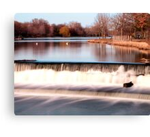 Dam on Fox River in Waukesha, WI  Canvas Print