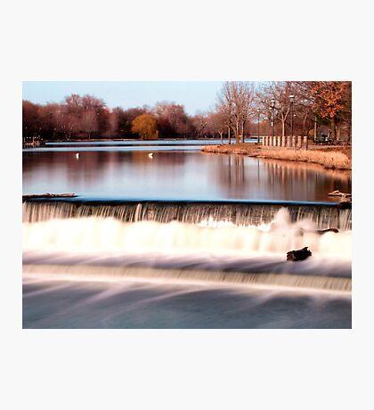 Dam on Fox River in Waukesha, WI  Photographic Print