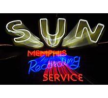Sun Studio Sign Photographic Print